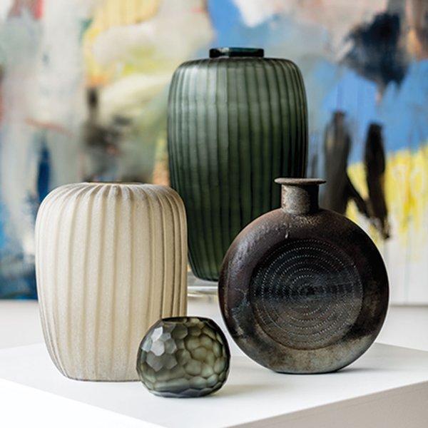 Vases from Veronique Wantz Gallery.