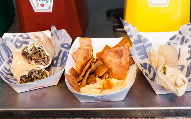 Food from Holy Land in Target Field