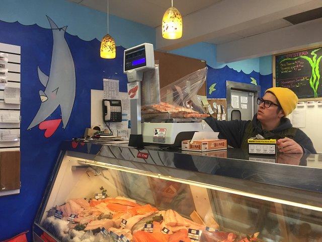 Coastal Seafoods counter