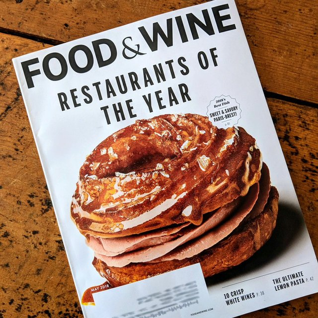 Cover of Food and Wine Magazine