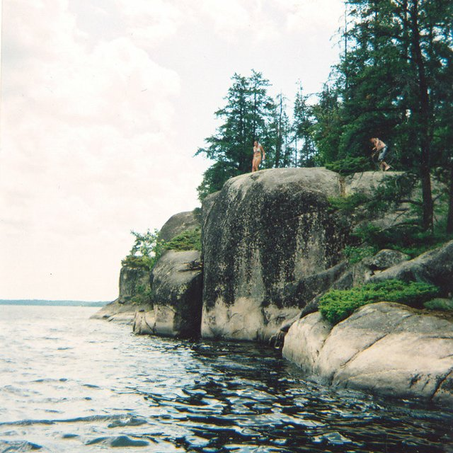 Cliffs at Crake Lake in the Boundary Waters