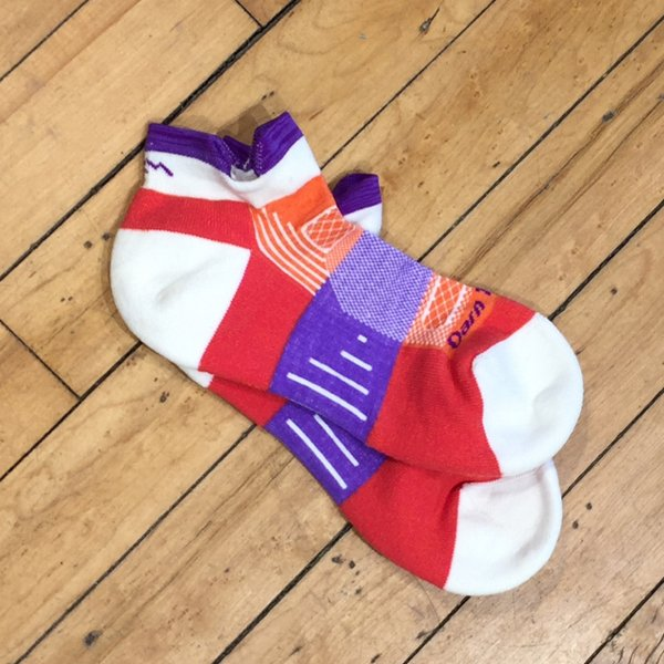 Red and purple ankle socks from 45 Degrees.
