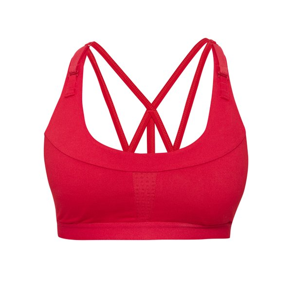 Red sports bra from Lole