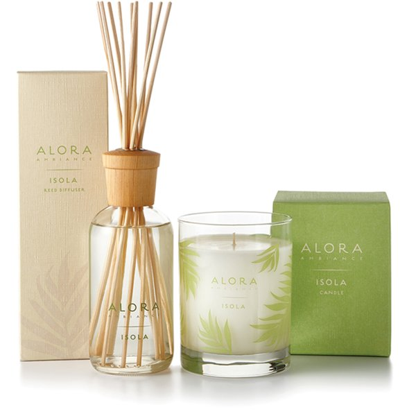 Isola diffusers and candles.