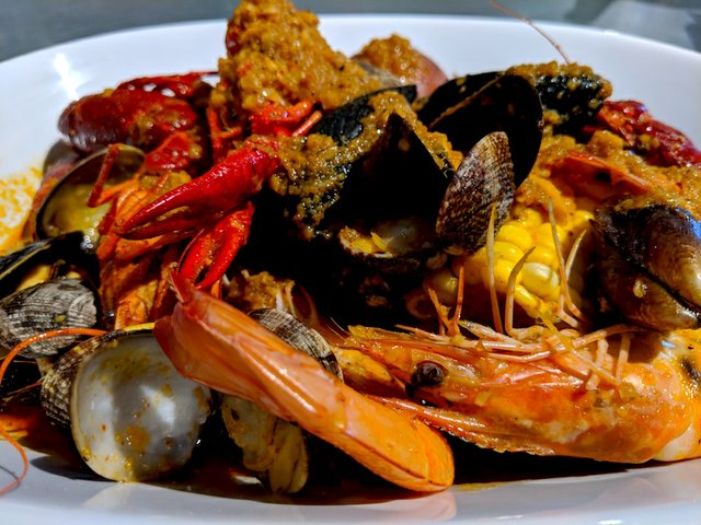 Shrimp boil at Grand Catch
