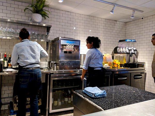 Soft serve ice cream at Grand Catch