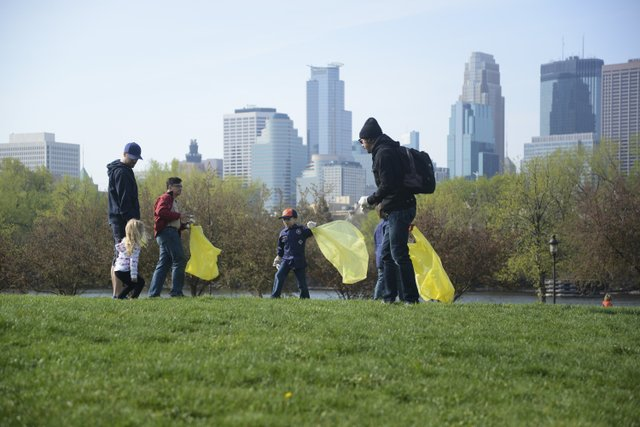Earth Day Cleanup at Boom Island Park