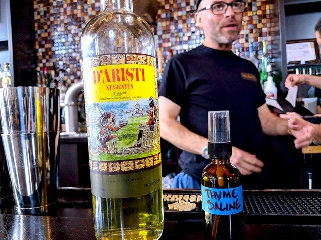 Patrick Denny bartending at Pajarito