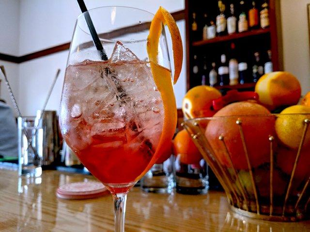 Spritz cocktail at Bungalow Club