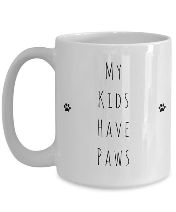 My Kids Have Paws Coffee Cup