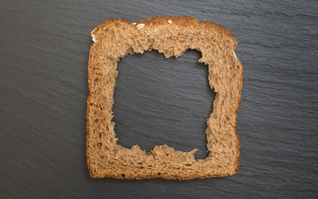 Bread crust.