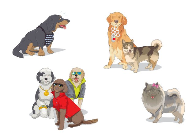 Dog Park illustrations