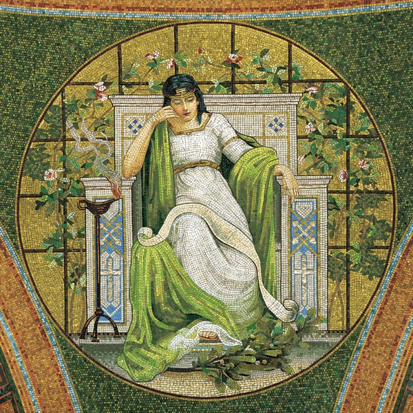 Muse mosaic in Lakewood Memorial Chapel