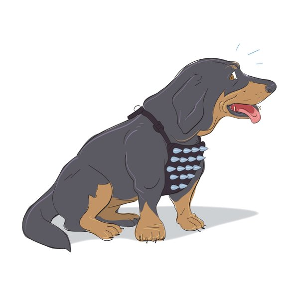 Arlington Arkwright dog park illustration
