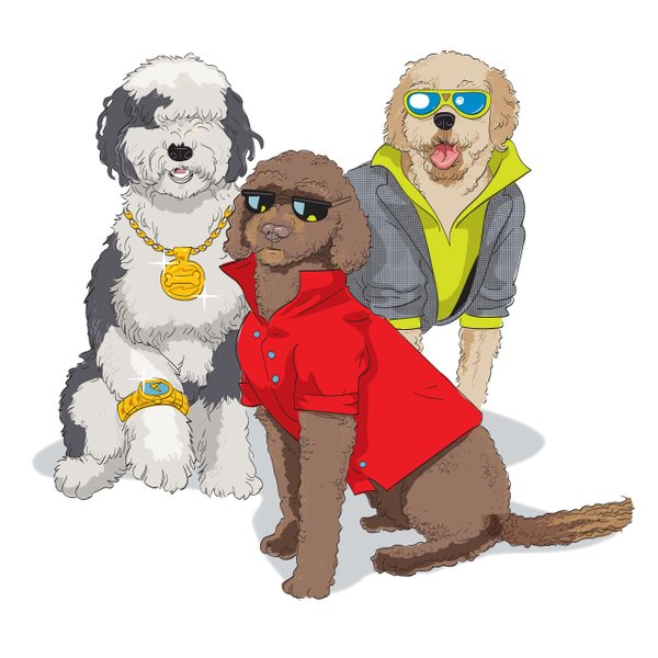 Lake of the Isles dog park illustration