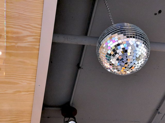 Hot Indian skyway location disco ball