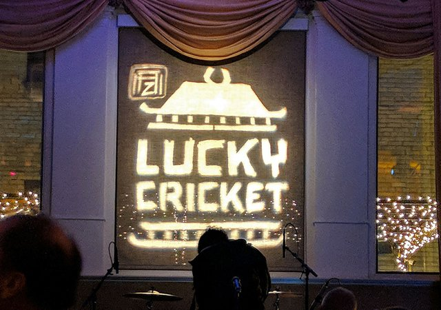 Andrew Zimmern's Lucky Cricket - Photo by Stephanie March