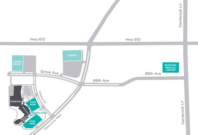 Healthmakers - Maple Grove Map