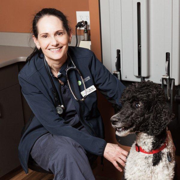 Dr. Susan Miller of Mission Animal Hospital in Eden Prairie