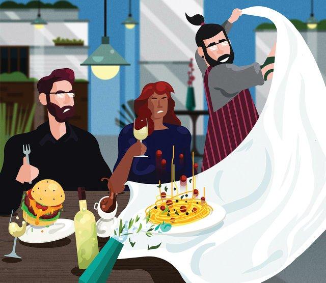 Dining Illustration
