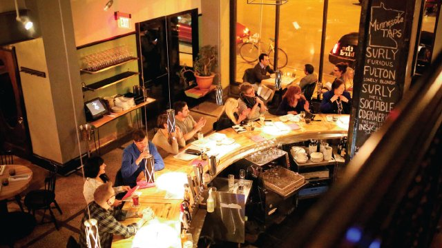 The Bird restaurant bar