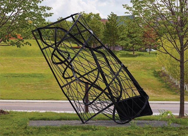 Untitled (gate) by Monika Sosnowska