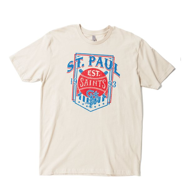 Saint Paul Saints Cream Vintage Style | $25, Saint Paul Saints