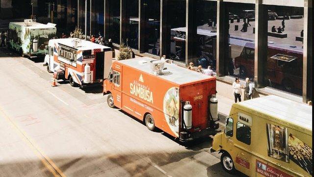 Food trucks in downtown Minneapolis