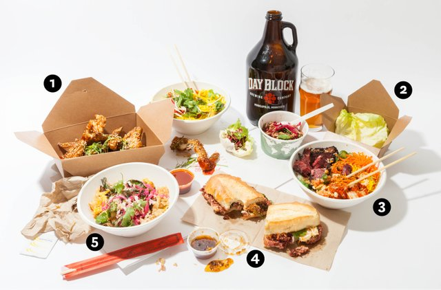 Sweet Chow, Running Tap, and ClusterTruck Delivery food