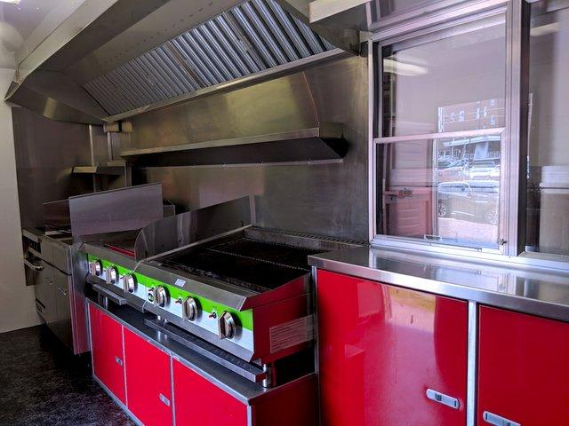 Inside Jon Wipfli's BBQ trailer