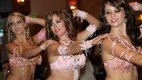 three belly dancers in a row