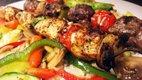 steak kabobs with vegetables