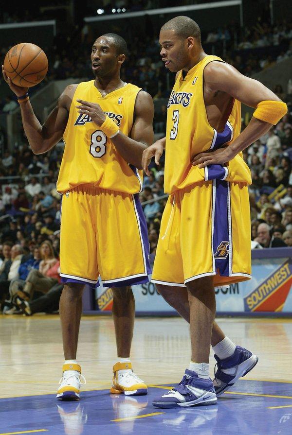 Kobe Bryant and Devean George