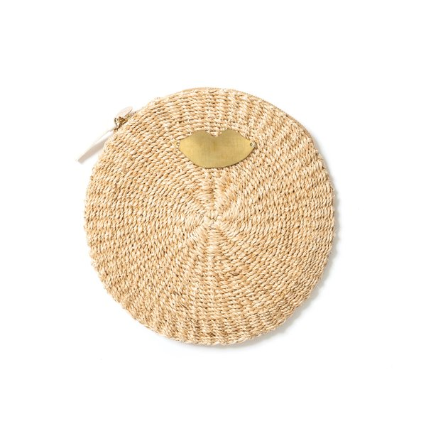 <strong>Woven clutch </strong>($195), by Clare V.