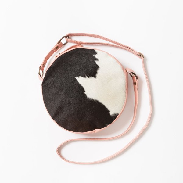 <strong>Cowhide crossbody</strong> ($139), by Minneapolis-based Julie Meyer Handbags, juliemeyerhandbags.com