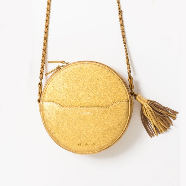 <strong>Remi gold matte crossbody</strong>  ($565), by Jerome Dreyfuss, from Pumpz & Co.