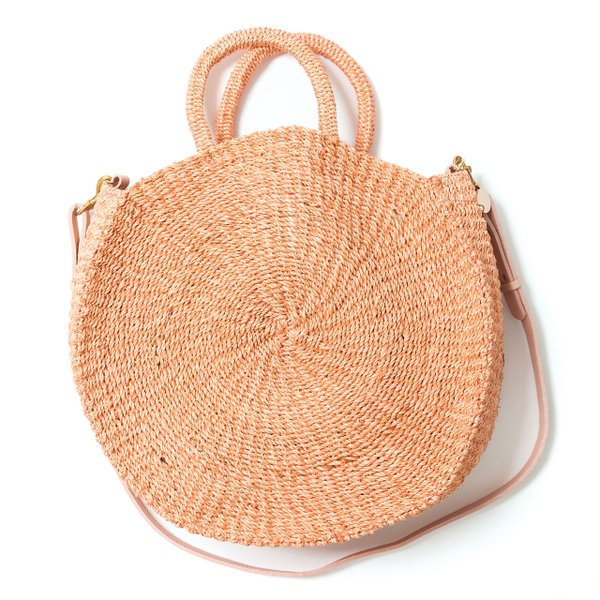 <strong>Alice woven bag</strong> (two sizes, starting at $175), by Clare V., clarev.com