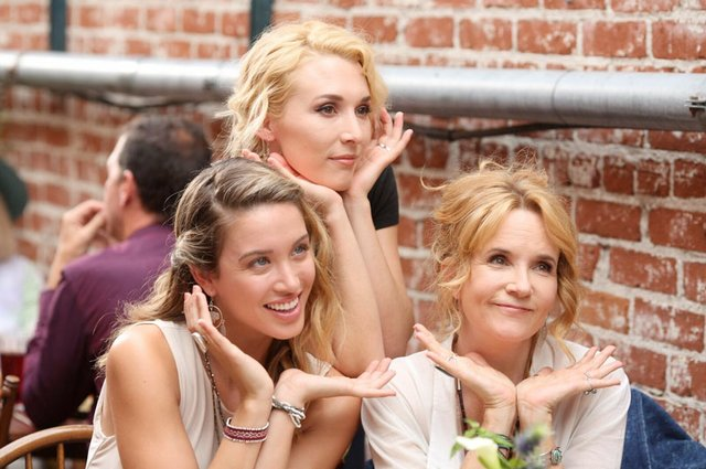 Lea Thompson on movie set with daughter Madelyn Deutch and actress Melissa Bolona