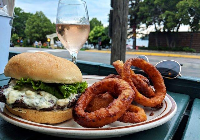 Black & Bleu Burger from Haskell's Port of Excelsior