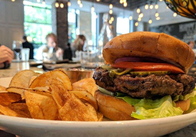 Burger from District Fresh Kitchen in Wayzata