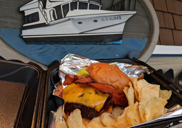 The Outlaw cheeseburger from Al and Almas