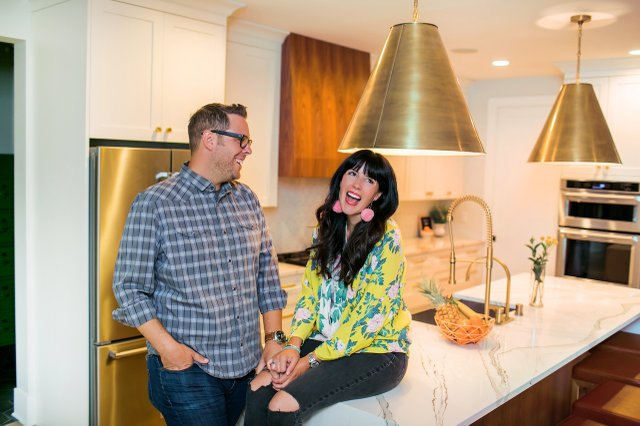 Heather and Brad Fox in their Edina home