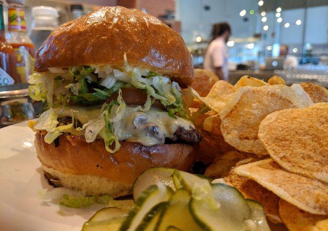 Burger from Benedict's in Wayzata