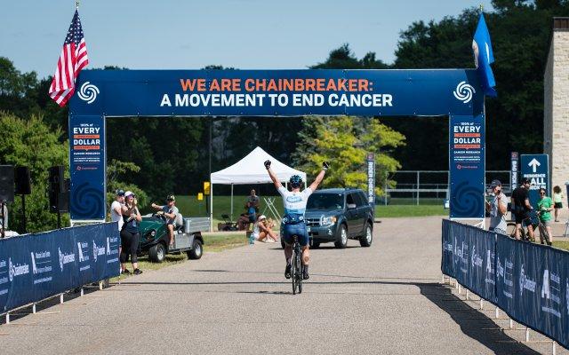Chainbreaker rider at the finish line