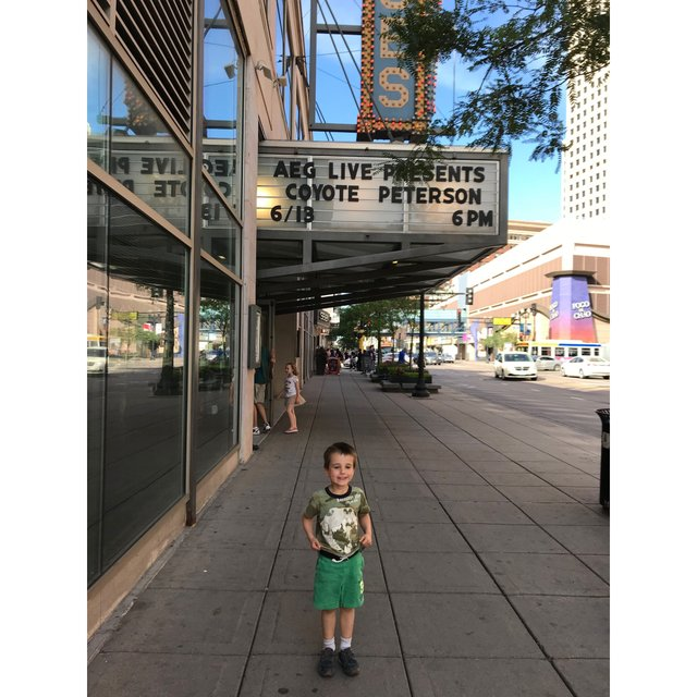 Finn Elbert at Coyote Peterson Show in Minneapolis