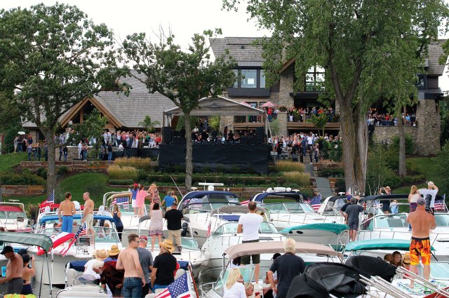Tim McGraw concert in Lake Minnetonka backyard