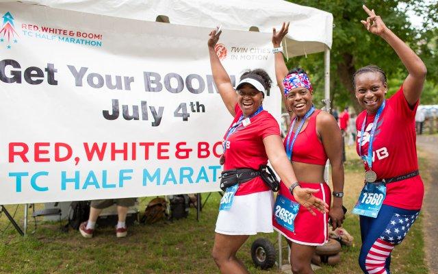 Ladies celebrating Red White & Boom.