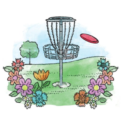 Disc golf illustration
