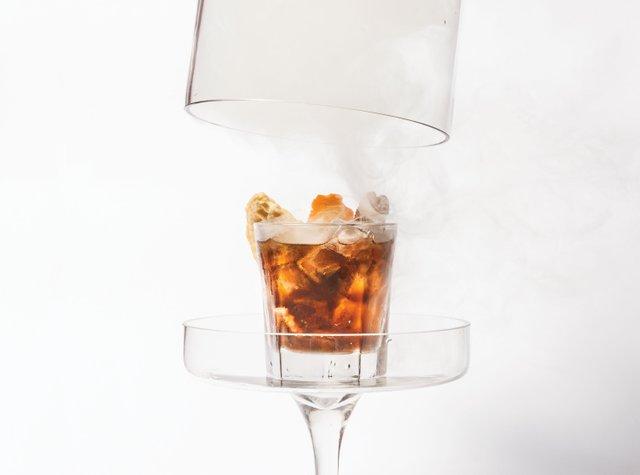 Smoked cocktail at Brick and Bourbon