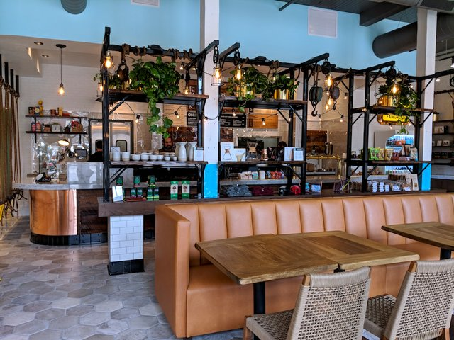 Interior of Fairgrounds Coffee Co. in the North Loop